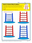 Back to School Word Ladder Activity - Printable Worksheet