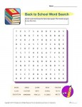 Printable Back to School Word Search for Grades 3-5