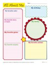 Back to School Worksheet – All About Me