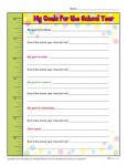 Free Classroom Back to School Activity - My Goals for the School Year
