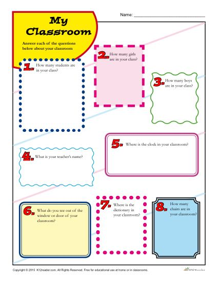 photo regarding Back to School Printable Worksheets called My Clroom Back again toward University Printable Game