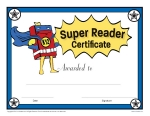 Printable reading award certificates k12reader super reader reading award certificate yadclub Choice Image