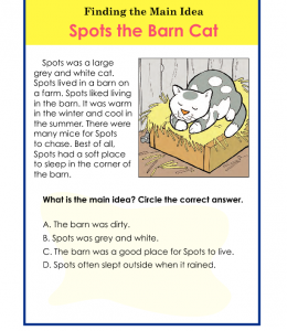 Topics : Main Idea Grades : 1st Grade , 2nd Grade