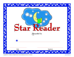 Printable reading award certificates k12reader picture of reading award certificate yadclub Choice Image