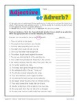 Printable Classroom Activity - Adjective or Adverb?