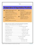 Printable Adverb Practice Worksheet - Comparative and Superlative