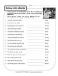 Free, Printable Adverb Worksheet - Eating with Adverbs