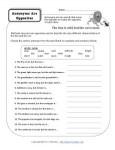 Parts of Speech Printable Activity - Antonyms are Opposites