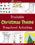 Christmas Themed Printable Activities for Preschool