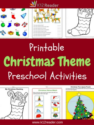Christmas Themed Printable Activities for Preschool