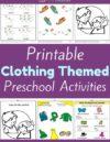 Clothing Preschool Theme Activities