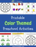 Color Themed Printable Activities for Preschool
