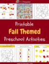 Fall Preschool Theme Activities