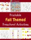 Fall Preschool Theme Activities