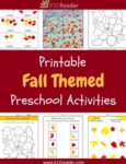 Fall Themed Printable Activities for Preschool