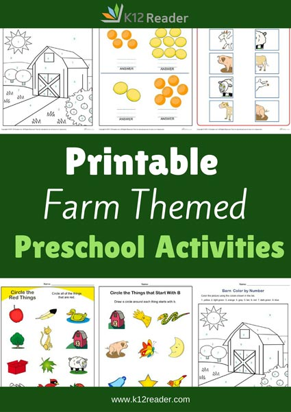 Fall Themed Printable Activities for Preschool