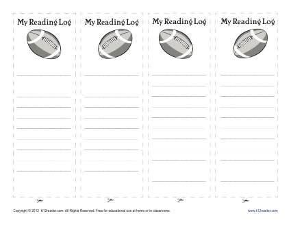 Football Bookmark for Kids