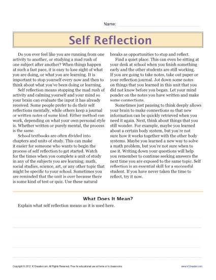 Sixth grade reading comprehension worksheet self reflection click to viewprint worksheet ibookread ePUb