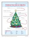 Christmas Add an Adjective Worksheet Activity