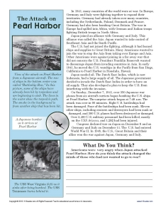 the attack on pearl harbor essay