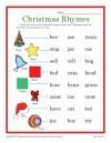 Christmas Rhymes Worksheet