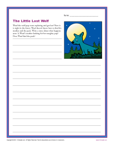 the little lost wolf 1st and 2nd grade writing prompt worksheet. Black Bedroom Furniture Sets. Home Design Ideas