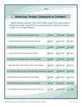 Printable Sentences Activity - Simple, Compound, or Complex?