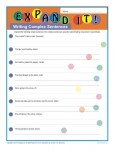 Printable Complex Sentences Worksheet - Expand It!