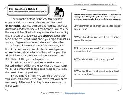 the scientific method 2nd grade reading comprehension worksheets. Black Bedroom Furniture Sets. Home Design Ideas