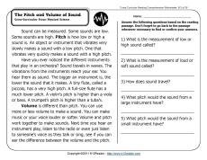 Science Worksheets Sound. Science. Best Free Printable Worksheets