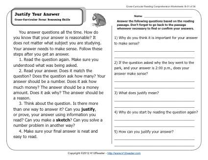 Gr Wk Justify Your Answer on inferences worksheets for 2nd grade