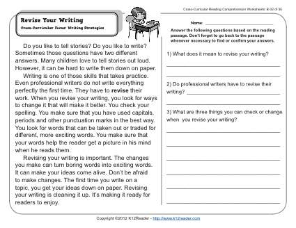 Revise Your Writing | 2nd Grade Reading Comprehension Worksheets