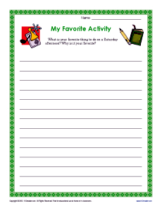 ... Favorite Activity | Descriptive Writing Prompt for 3rd and 4th Grade