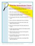 Printable Subordinate Clause Worksheet
