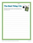 4th and 5th Grade Writing Prompt - The Best Thing I do