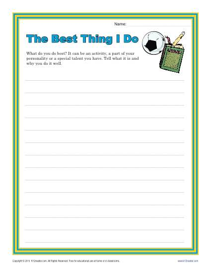 The best thing i do creative writing prompt for 4th and for Writing templates for 3rd grade