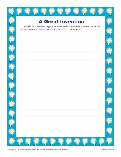 a great invention high school writing prompt worksheet. Black Bedroom Furniture Sets. Home Design Ideas