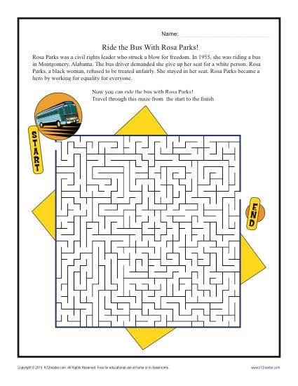 Rosa+Parks+Reading+Comprehension+Worksheets Rosa Parks Reading ...