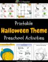 Halloween Preschool Theme Activities