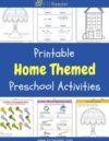Home Preschool Theme Activities