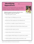Identify the Appositives - Free, Printable Appositive Worksheet Activity