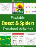 Insects and Spiders Themed Printable Activities for Preschool