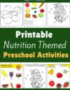 Nutrition Preschool Theme Activities
