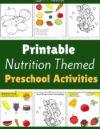 Nutrition Preschool Theme Activities