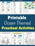 Ocean Themed Printable Activities for Preschool