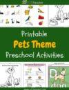 Pets Preschool Theme Activities