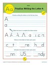Practice Writing the Letter A