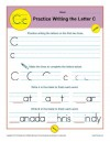 Practice Writing the Letter C
