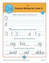 Practice Writing the Letter D