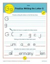 Practice Writing the Letter G